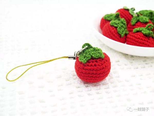 【原创】一线铺子 钩针编织小番茄挂件图解教程