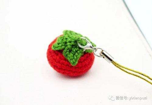 钩针编织手工制作小番茄图解教程