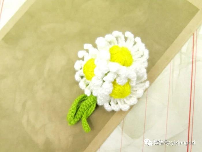 图解教程 | 小雏菊花朵胸针钩针编织